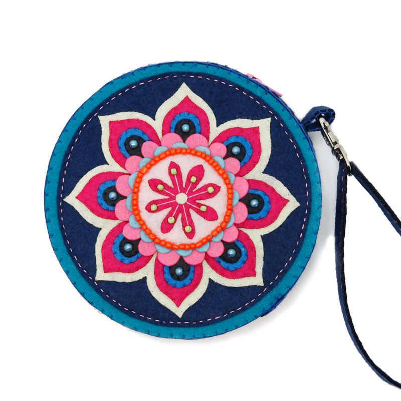 a7637e35a2c7 Нежный Shopping чувствовал сумочка кошелек ручной работы Наборы фетра для  рукоделия швейная портмоне для Для женщин
