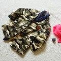 3 4 6 8 10 anos meninas/meninos camuflagem jaqueta outwear crianças algodão outono roupas esportivas de moda para crianças