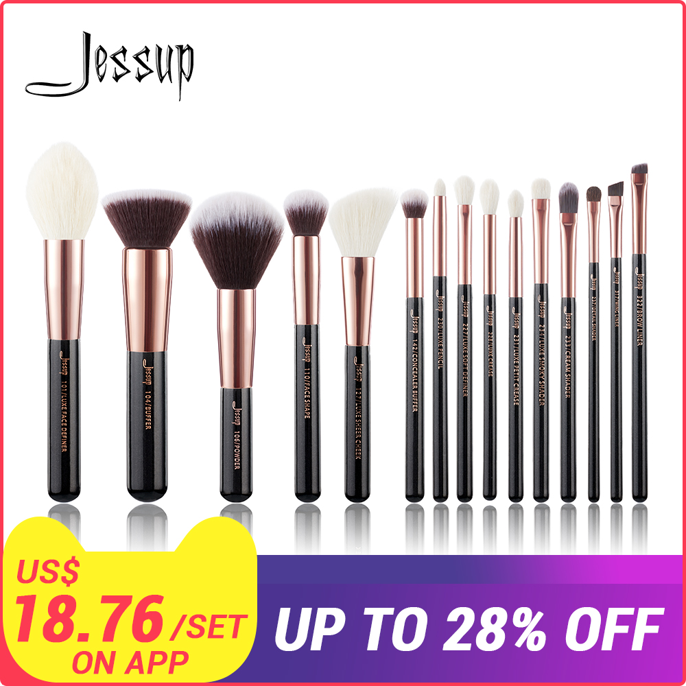 Jessup pinsel Rose Gold/Schwarz Professional Make-Up Pinsel Make up Pinsel set Kosmetik Foundation Pulver Definierer Shader Liner