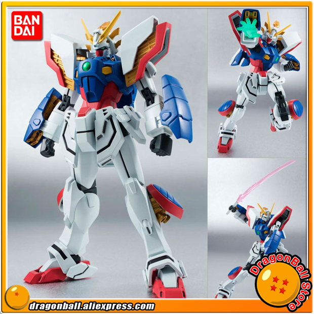 Mobile Fighter G Gundam Original BANDAI Tamashii Nations Robot Spirits Action Figure No.178 - Shining Gundam платье oodji ultra цвет оранжевый синий 2 шт 14001071t2 46148 19v5n размер xxs 40