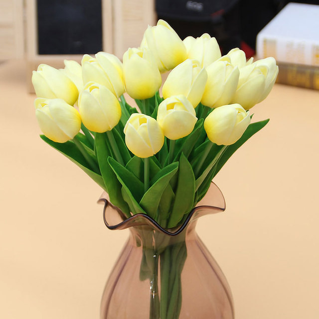 1pcs pu mini tulip flower real touch wedding flower bouquet 1pcs pu mini tulip flower real touch wedding flower bouquet artificial flowers silk flowers for home mightylinksfo