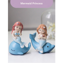 Creative Mermaid Kawaii Animals Home decor Wedding gift fairy garden resin Figurines Miniatures cute Fish tank decoration