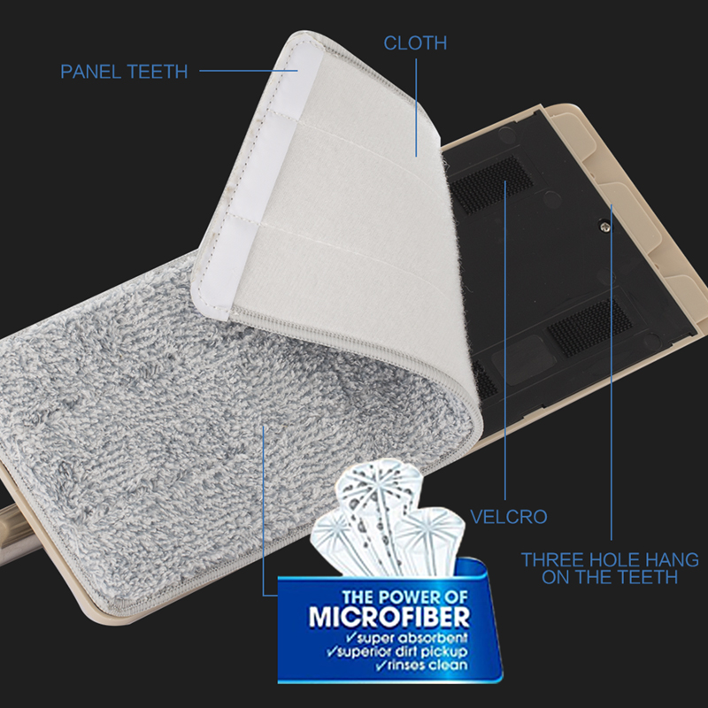 Image 5 - スマートフラットドライまたはウェットモップバケツと絞り器家庭用台所の床クリーニングマイクロファイバーモップ自己洗浄システムバケット    グループ上の ホーム