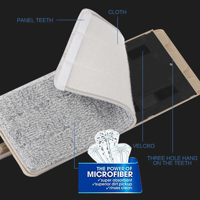 Inteligente Plana Seco ou Molhado Mop Balde Com Espremedor para Cozinha de Casa Piso De Limpeza De Microfibra Mop Com Auto Sistema de Limpeza balde