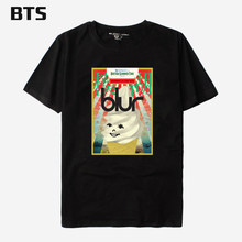 BTS Blur T-shirt Men Famous Brand Cute Funny Men Shirt Luxury Brand Short Sleeve Kawai Couple Tees And Tops 4xl Plus Size