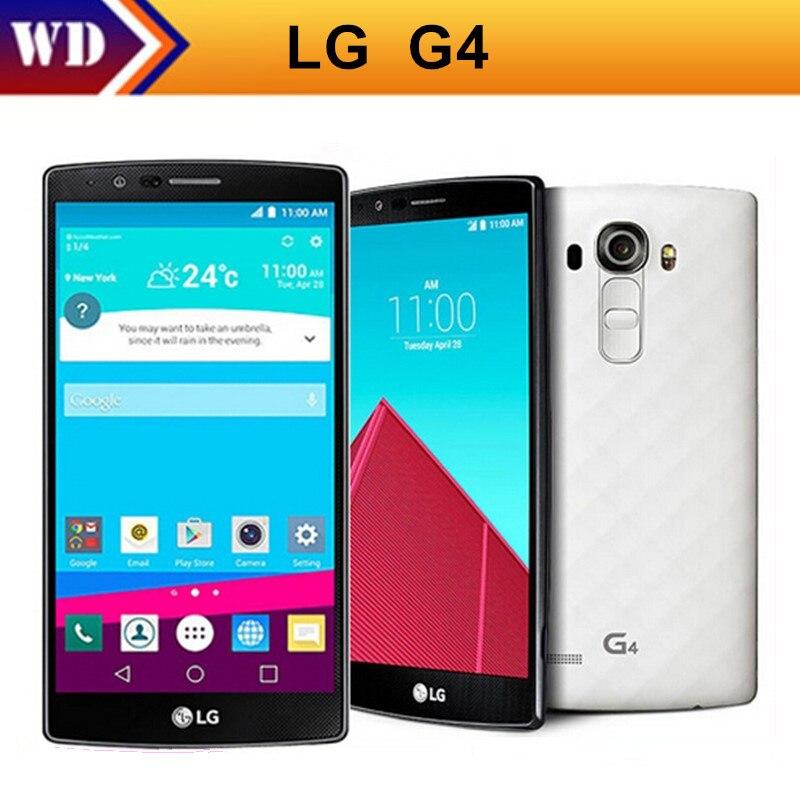 """Цена за Разблокирована Оригинальный LG G4 Гекса Основные 4 Г LTE H815 H810 5.5 """"дюймовый Мобильный Телефон 16.0MP 32 ГБ ROM 3 ГБ RAM Android 5.1 Восстановленное"""