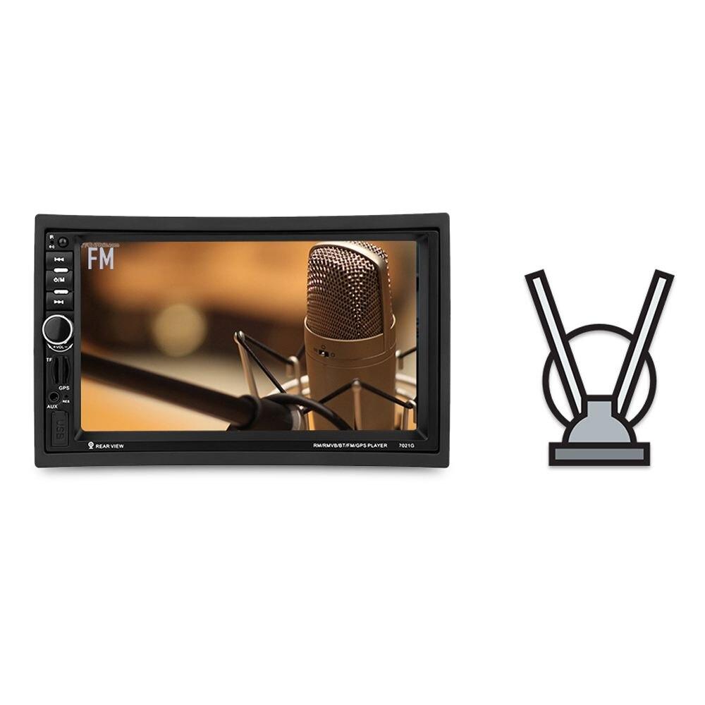 купить 7021G 7 inch 2 Din Car TFT MP5 Bluetooth Multimedia Player With GPS+Southeast Asia Map FM Stereo Radio Video Player по цене 4739.43 рублей