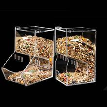 Clear Acrylic Automatic Hamster Feeder Small Pet Supplies Food Bowl Feeding Device Drop Shipping