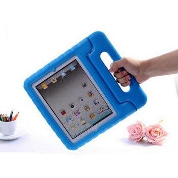 цены For Apple iPad Mini 1 2 3 4 5 EVA Foam Shockproof Case for iPad Mini4 Mini5 Coque Children Kids Handle Stand Protective Cover