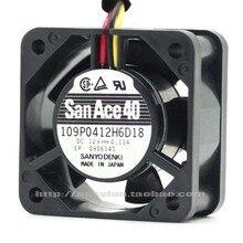 sanyo denki San Ace 109P0412H6D18 4 см 4020 двойной шарикоподшипник 12 V Вентилятор охлаждения