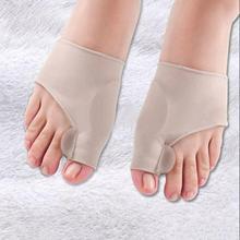 1 par almofada de silicone hallux valgus orthotic correção mangas cuidados com os pés joint grande dedo do pé separadores corretor mangas