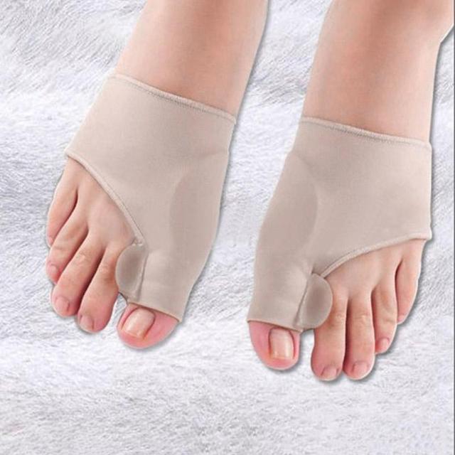 1Pair Silicone Pad Hallux Valgus Orthotic Correction Sleeves Foot Care Bunion Big Toe Separators Corrector Sleeves