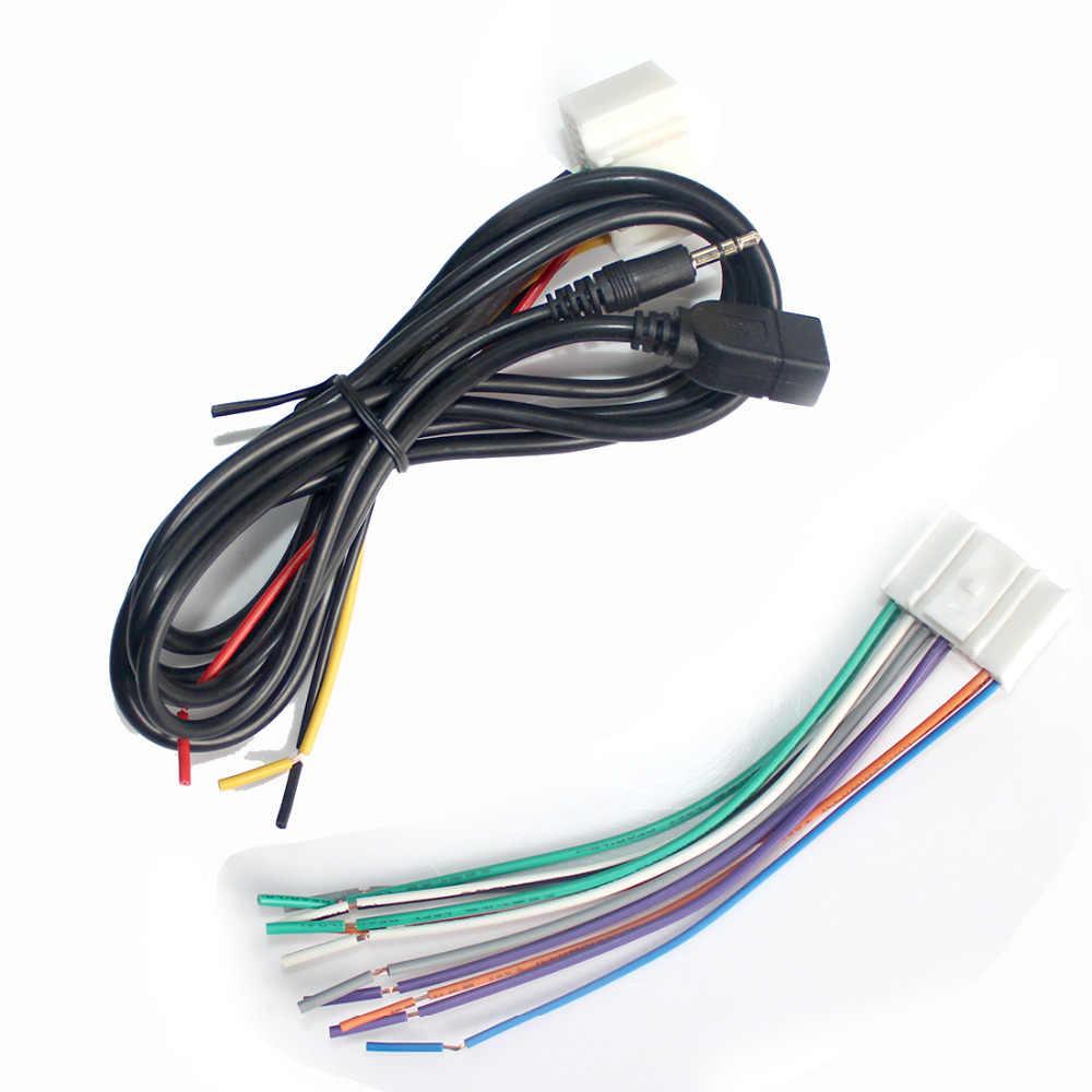 dewtreetali car audio cd stereo wiring harness adapter with usb aux plug for kia k5 [ 1000 x 1000 Pixel ]