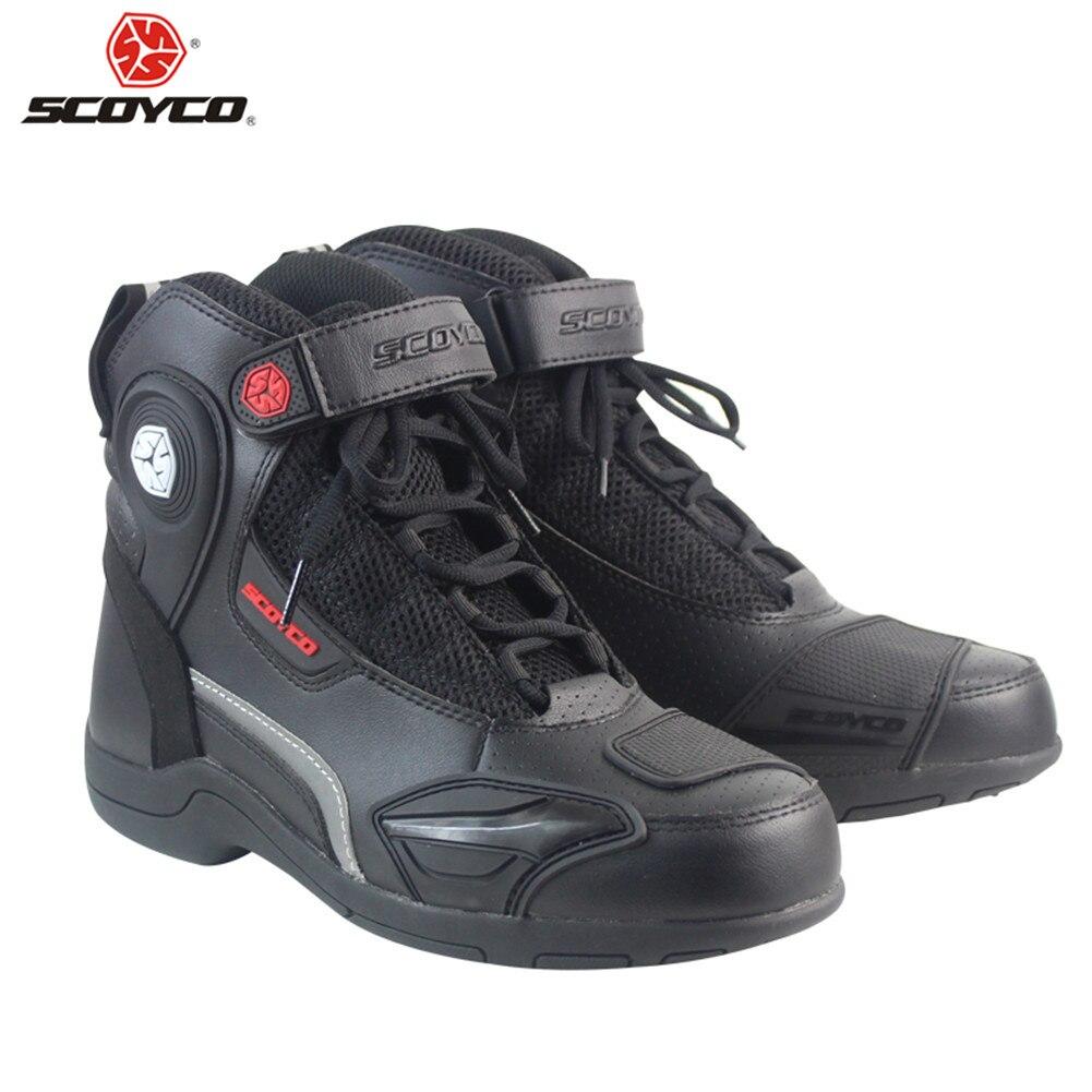 SCOYCO Motorrad Stiefel Motorrad Motorboats Moto Biker Botas Männer Ankle Schuhe Reitstiefel Motorrad Schuh Racing Stiefel