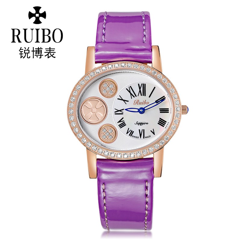 fashion womens watches quartz genuine leather waterproof luxury ladies wristwatches diamond sapphire crystal Citizen movement
