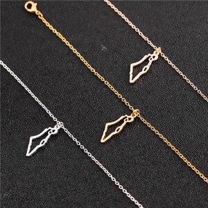 Крошечное ожерелье в азиатской стране Stat, с полой картой, в родном городе Израиля, Очаровательное ожерелье с подвеской, ожерелье в стиле иуд...