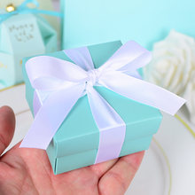 abb395d25e7 10pcs Romantic Wedding Favor Tiffany Blue Paper Candy Box DIY Candy Cookie  Gift Boxes Wedding Party Candy Supplies