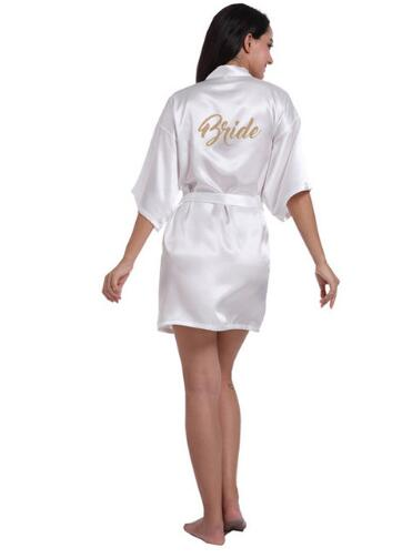 Silk Satin Wedding Bride Bridesmaid Robe Floral Bathrobe Kimono Robe Night Robe Bath Robe Fashion Dressing Gown For Women 2018