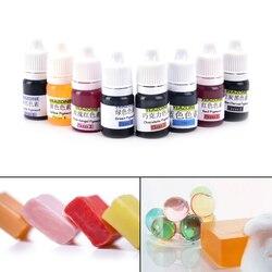 8 ألوان 5 مللي صابون يدوي الصنع صبغ أصباغ تلوين أدوات مواد يدوية الصنع الصابون قاعدة اللون الصباغ السائل