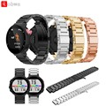 De metal em aço inoxidável faixa de relógio cinta para garmin forerunner 220 230 235 630 620 735 smart watch banda chave de fenda fivela cadeia