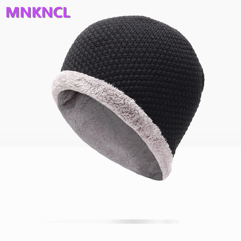 2017 New  Men Women Skullies Beanies Winter Autumn Thickening Internal Plush Hedging Cap Knit Knitting Caps Bonnet Hat Warm skullies