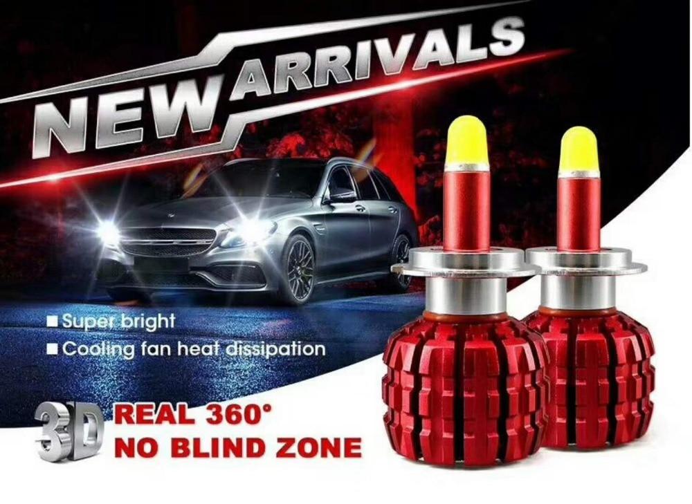 все цены на 2018 NEW H7 H11 H8 H9 LED H3 H1 HB4 HB3 880/881/9012/9005 auto LED lamp chip automatic fog-proof light bulb Super white 2Pcs 12V онлайн