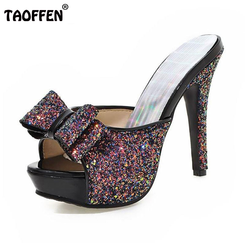 293d637afcdec Women Thin High Heel Sandals Brand Fashion Lady Dress Leopard Sexy Platform  Party Shoes Slippers Female Flip Flops PB00043-in Women s Sandals from Shoes