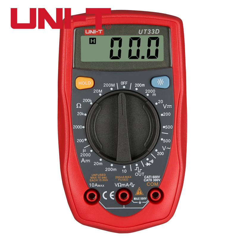 UNIT UT33X Palm Size Digitial Multitesters AC/DC Voltage Current Resistance Diode Test Electrical Automatic Megohmmeter Tools [randomtext category=