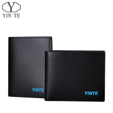 YINTE Black Men's Wallet Classic Men Spain Cow Leather Card Wallet Cash Holder Fashion Money Clip Purse Portfolio T8844BC