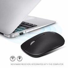 Jukstg Портативный бесшумный Беспроводной Мышь с нано USB приемник 2,4 г Тонкий 1600 Точек на дюйм 3 кнопки Беспроводной мыши беспроводного доступа в Интернет для ПК и ноутбуков