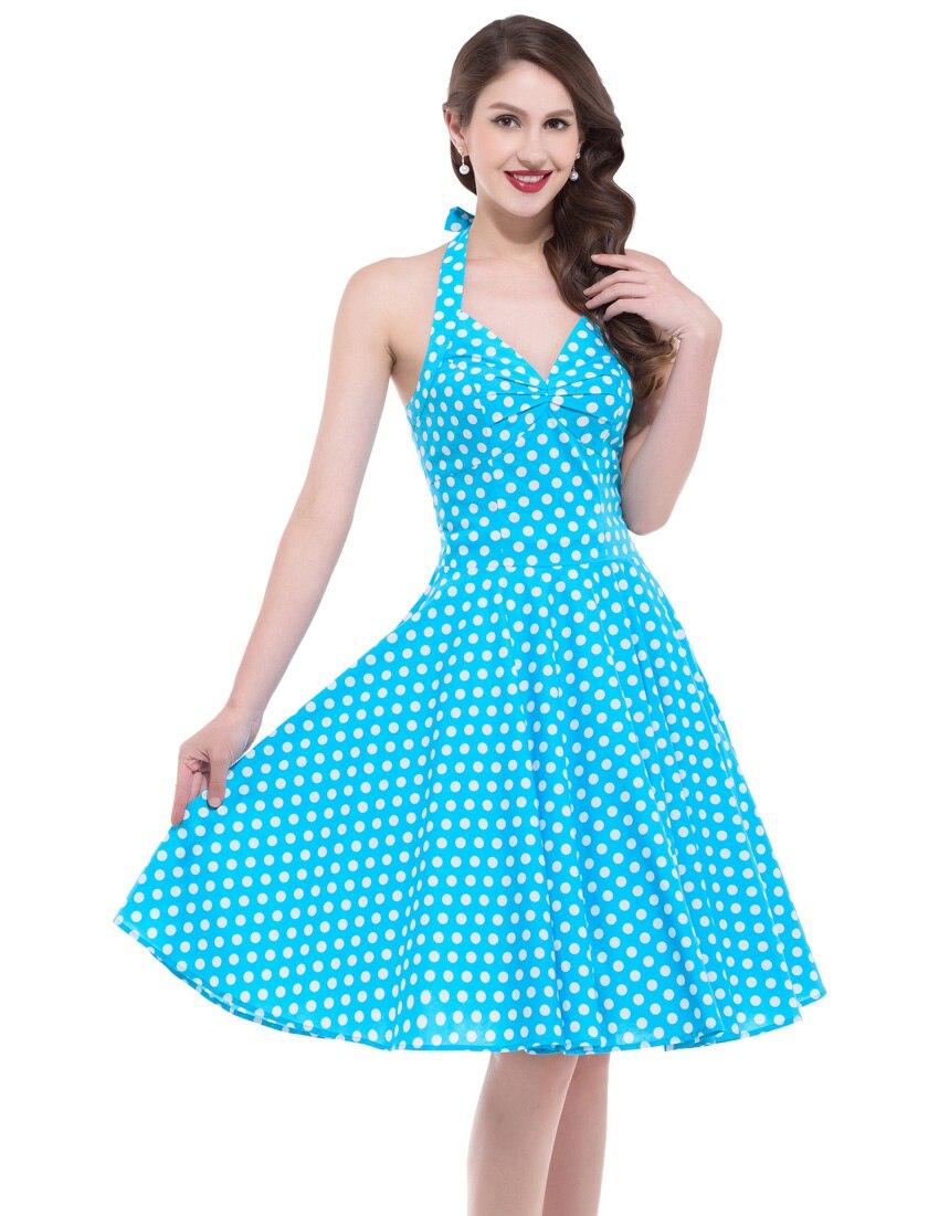 Summer Style Retro Brand Luxury Vestidos Woman Vintage 50s 60s Dress ...