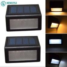 2Pcs LED Solar Light Outdoor IP55 Waterproof 6LED Light Control Solar Garden Outdoor power-Saving Solar Lamp White/Warm White