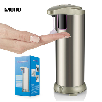 MOIIO Automatic Liquid Soap Dispenser Bathroom Accessories High Quality Stainless Steel Liquid Soap Holder 250ml Metal Bottle клиник liquid facial soap mild