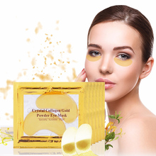 2015 Hot ! 10pcs/Lot Natural crystal collagen gold powder eye mask, Anti-Aging eliminates dark circles and fine lines skin care