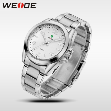 WEIDE Business Quartz Sport Wrist Watch Casual Genuine Water Resistant Men Watches Brand Luxury Men Analog Watch Stainless Steel new arrival weide luxury brand sport watches for men analog led digital 3atm water resistant leather strap men watches