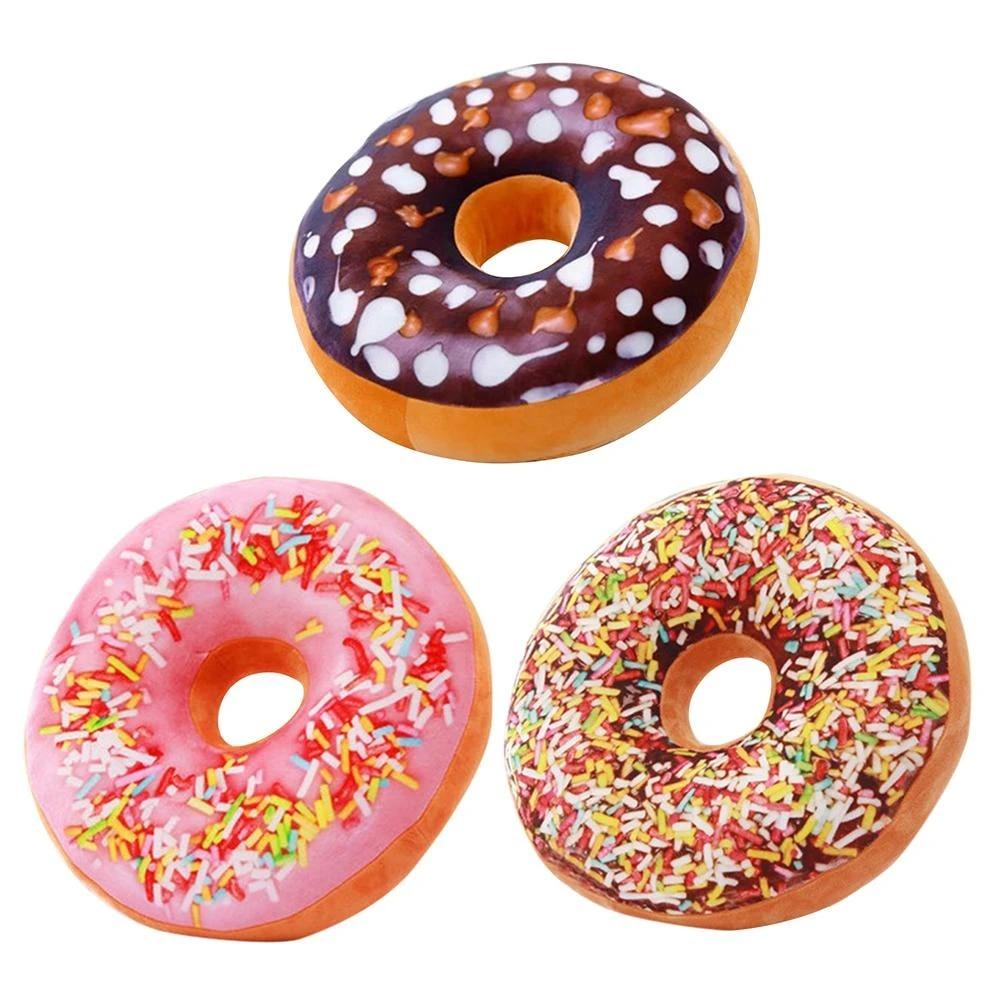 cute donut pillow chocolate donut plush macaron food pillow doughnut home decorative cushions seat pad toys
