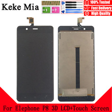 Keke Mia 5.5 New Original For Elephone P8 3D CellPhone LCD Display+Touch Screen Digitizer Assembly Replacement Glass Free Tools