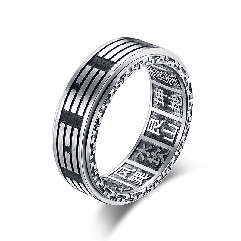 Rings Romantic Fashion Rotatable Mens Ring Punk Rock Accessories Black Stainless Steel Spinner Rings For Men Harmonious Colors