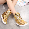 spring autumn 2017women Trainers gold silver platform women fashion shoes up shoes height increased wedges shoes zapatillas muje