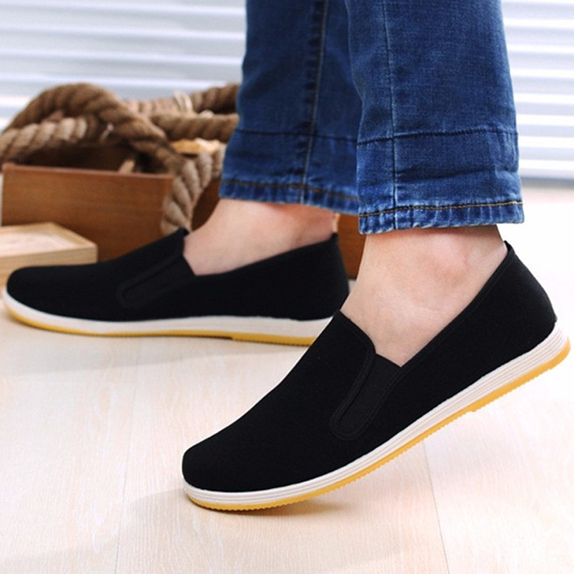 Men Canvas Shoes Loafers Man Sneakers Casual Shoes Black Flat Slip On Summer Canvas Shoes Mocassin Homme Espadrilles Size 35-45 цены онлайн