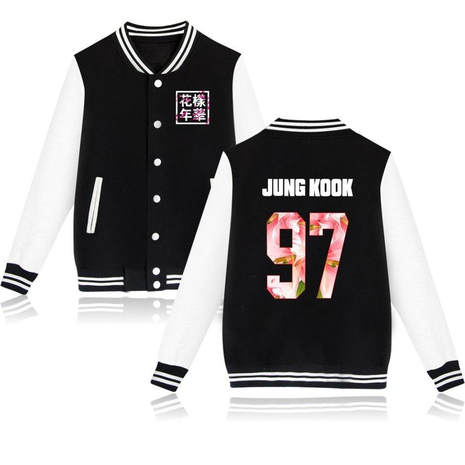 kpop Clothing BTS bangtan boys in the mood for love album academy wind autumn and winter with velvet baseball uniforms k-pop jin