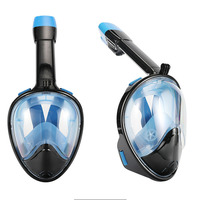 2018 Hot Sale New Anti Fog Full Face Snorkeling Mask Diving Snorkel 180 Degree Dry Easy Free Breath Dive Gear Tube XNC