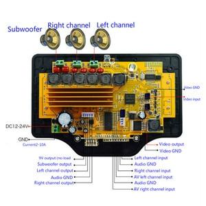 Image 5 - Tenghong LCD Da 4.3 Pollici MP3 Scheda di Decodifica DC12V 50W * 2 + 100W Amplificatore Bluetooth Bordo MP5 Audio ricevitore Decodering Modulo WMA/OGG