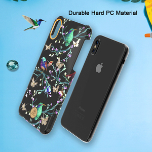 Image 5 - Original Kingxbar Crystals Rhinestone Flower Case For Apple iPhone XS XS MAX X Fashion Built in Metal Plate Hard Back Cover Case