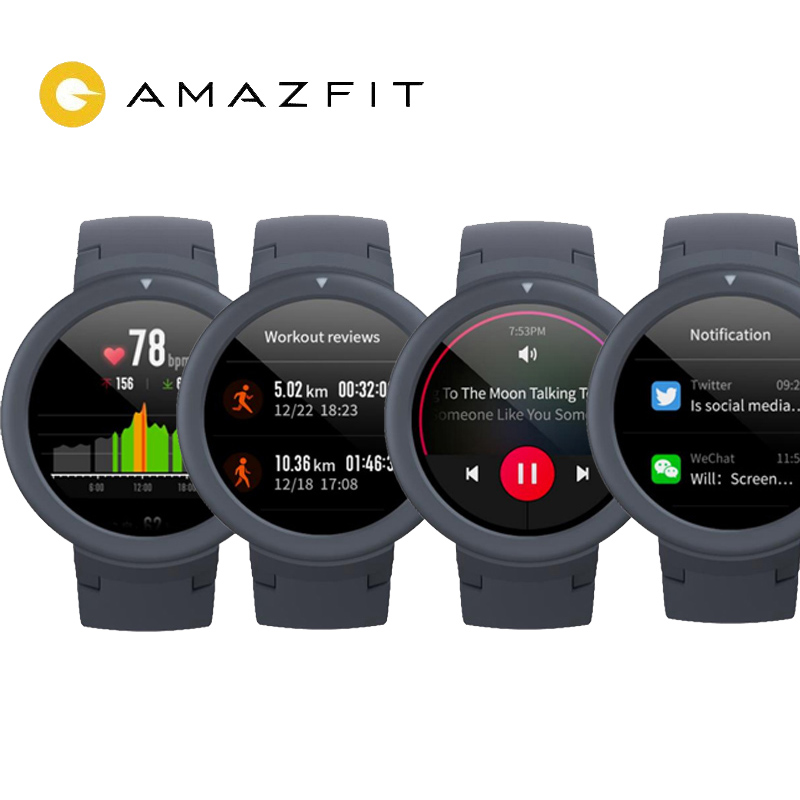 "English Xiaomi Huami Amazfit Verge Lite GPS Smart Watch IP68 1.3"" AMOLED Screen 20 Days Battery Life Verge Lite Wristwatch Smart Watches    - title="