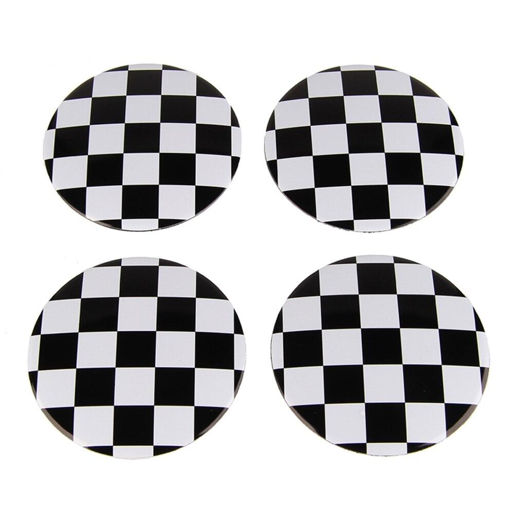 56.5mm F1 Aluminum Car Wheel Center Hub Caps Sticker For