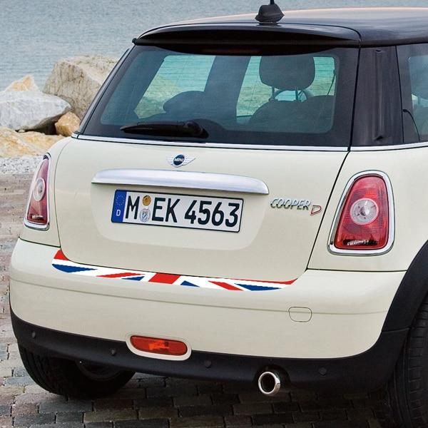 Autocollant MINI Cooper arrière queue de pare-choc   Étiquette imprimée de haute qualité union jack, autocollant de protection cooper