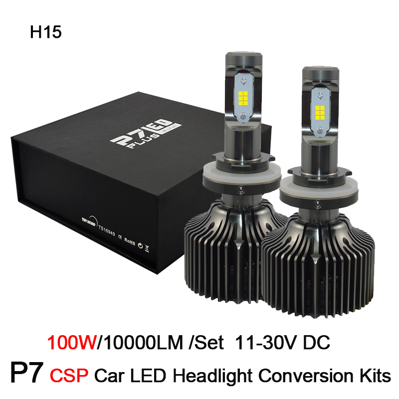 2017 New Arrival Car H15 100W led Headlight bulbs 6000K Super Bright White H15 LED Conversion Kit Replacement Bulb For Headlight super bright r3 9600lm led car headlights h7 white 6000k car led headlight conversion lamp kit for cre xhp 50 4800lm bulb