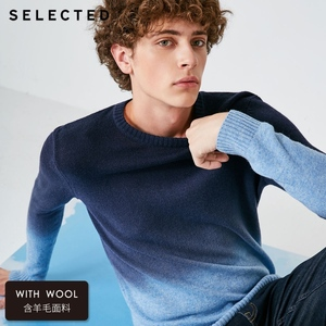 Image 2 - SELECTED Mens Sweater Pure Wool Autumn Knit Gradual Change Business Casual Pullovers S