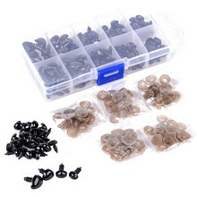 100Pcs/Box 5 Sizes Plastic Safety Triangle Nose with Washers for Doll Bear Toys